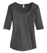 6756L - Ladies' Tri-Blend Deep Scoop Neck 1/2-Sleeve Tee
