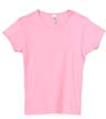 B9001A - Girls' Baby Rib Short Sleeve Crew Neck T-Shirt
