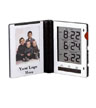 BLK-ICO-118 - Folding Photo Frame/Travel Alarm Clock