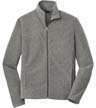 F235 - Heather Microfleece Full-Zip Jacket