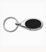 SMS-CG-2010 - Oval Black/Silver Key Tag