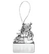 SMS-CG-4023 - PEWTER SNOWMAN ORNAMENT