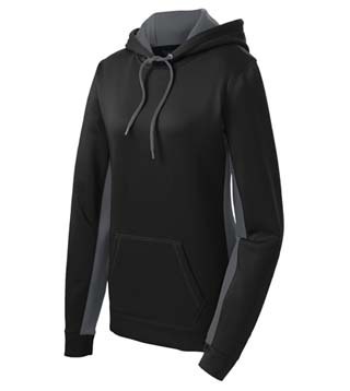 Ladies' Fleece Colorblock Hooded Pullover
