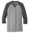 NEA121 - Sueded Cotton 3/4-Raglan Tee